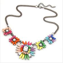 2015 New Fashion Statement Necklaces Bib Collar Chokers Pendant Necklaces For Women Wedding Jewelry Crystal Rhinestone SALEHT-08