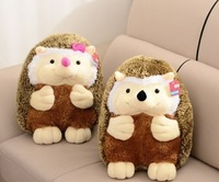 2015 new super cute hedgehog plush toy high quality doll home decoration gift for baby