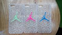 Fashion Noctilucent Jordan Brand Hard Cover Back Case For iphone 4 4s 5 5s  For iphone 4 4s 5 5s Hard Case Cover Hot