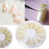 1.5MM/2MM/4MM Nail Art Tips Decorations White Imitation Pearl Beads Rhinestone Decoration Accessory