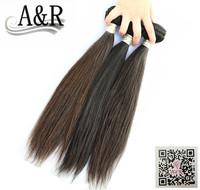 A&R 3pcs lot free shiping extension virgin for black women real brazilian human hair