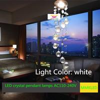 Free shipping NEW 2014 modern led crystal pendant lights aisle lamp ceiling light AC110-240V D85MM*H300mm