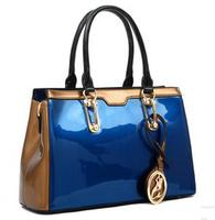 New 2014 Genuine Patent Leather Women Handbags Luxury Brands Fashion Totes Bolsas Women Messenger Bags H0624