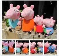 2014 NEW Top Selling Animal Baby Toys Peppa Pig Family Stuffed Plush Doll Peppa Pig plush toys 4PCS/SET