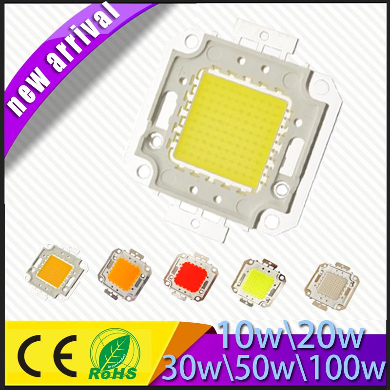 1pcs RGB 10w 20w cool Warm white red blue green Led Chip light White DIY Lamps Bright for 10w 20w 30w 50w 100w flood light(China (Mainland))