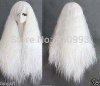 "FREE SHIPPING **@@****32"" VOCALOID Miku Kanekalon wigs COSPLAY Long Rhapsody white curly wave wigs"