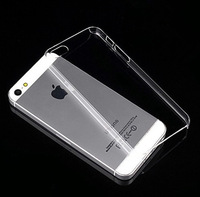 Ultra thin 0.8mm glossy clear  Plastic hard Transparent Crystal Phone Cases Cover For iphone 5S 5 Case With Tracking Number