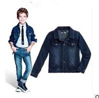 2014 new autunm big brand boy denim coat kids cotton coat boy fashion cloth 5pcs/lot