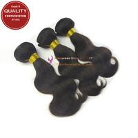 Grade B peruvian virgin remy hair body wave human hair weaves 3/ bundles, unprocessed natural black color 1B
