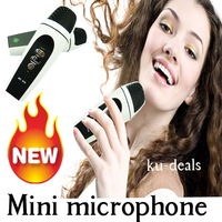 Hot mini microphone, mini karaoke for android mobile phone, for  iphone, computer, mobile DVD, speaker, free shipping