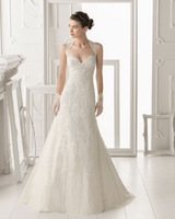 2014 New Model High Quality Elegant A-Line White/Ivory Women Sweetheart Lace Appliques Wedding Dresses Bridal Gowns