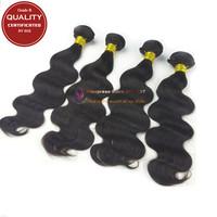 Grade B 100% Human Hair Body Wave Malaysian virgin hair 4 bundles Unprocessed Malaysian body wavy hair weave