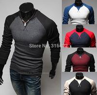 Free shipping! 2014 hot men's sweaters, long sleeve raglan sleeve slim sweater pullover sweater men's clothing T-shirts  A400