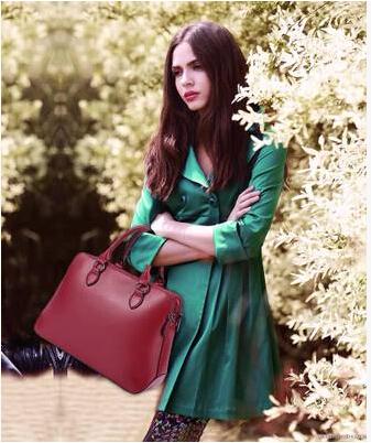 Genuine leather cowhide bolsas femininas 2014 women's fashion handbag cross-body women's big bags espionage bag(China (Mainland))