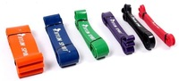 100% Premium Natural Latex CrossFit Fitness Resistance Bands,Rubber Pull Bands,Power Exercise Pull Rope,15-230Lbs,6 Colors,ZL99
