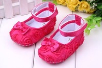 Retail free shipping 2013 Girls flowers rose baby toddler shoes 11cm 12cm 13cm spring autumn children footwear first walkers