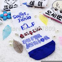 2014 new sale women socks calcetines 12pairs/lot mixed super junior/snsd/overdose/f(x)/shinee/infinite member socks 23.5*8.5cm