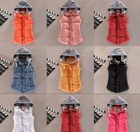 2014 Autumn and Winter women's slim cotton vest,9 color fashion down vest ,outwear coat,winter brand outdoor vest