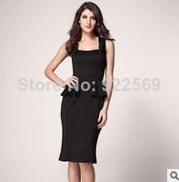 2014 new fashion European  slim ladies fashion sleeveless  dress women dresses