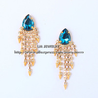 fashion New 2014 accessories unique jewelry brincos tassels luxurious crystal dangle drop earrings for women gift LM-SC871