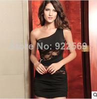 2014 summer new style fashion Shoulder sleeveless lace  sexy dress nightclub dress party dresses