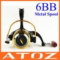 GS4000 6BB spinning fishing reel metal spool aluminum 2014 NEW hot sale free shipping for shimano abu garcia roybi feeder