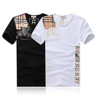 2014 Mens Brand Short Sleeve Cotton T Shirt Summer  Boy London Shirts Men's Clothes Plus Size M-4XL