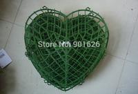 38x37cm Wedding Flowers Heart Holder  of Artificial Flowers Bracket  Wedding Love Flower  plastic Pots Holder