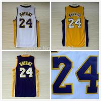 Kobe Bryant 24 Basketball Jersey, Best Quality Hot Sale Basketball Jerseys Kobe Bryant New Rev 30 Brand Embroidery Logo, S-XXL