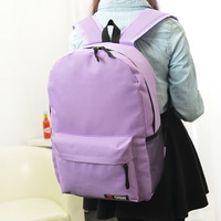 pure candy color bag leisure backpack computer bag high school students backpack