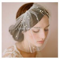 Pearl Beaded Bridal Face Veil, Bridal Decoration, Bridal Accessories, Wedding Wear