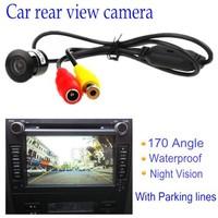 170 deg Angle Mini Rear View Car Camera Waterproof Reversing Backup Parking+drill free shipping