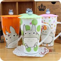 Totoro Mymikku with lid big size cartoon milk coffee tea home office mug cup drinkware