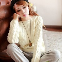 2014 autumn and winter women's female sweater knitted sweater female thickening loose pullover colorful free size