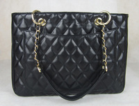 High Quality Quilted Chain handbag Fashion Classic Black Caviar Leather GST Bag Grand Shopping Tote Bag With Gold Hardware
