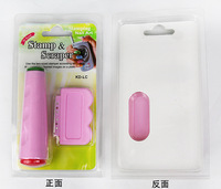 Free Shipping!1Set Stamp Image Plates and Scraper Set For Manicure,DIY Nail Polish Konad Mould Tools