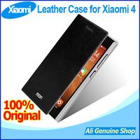 In Stock! 100% Original Xiaomi Mi4 4G LTE Phone leather case,Leather case for XIAOMI mi4 4s with Free shipping