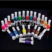 colorful Nail Art Striper Pen 24pcs/lot 2-Way False Nail Art Glitter Makeup Polish  Varnish Brush Set FREE SHIPPING