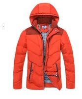 Free shipping winter 2014 new men's Korean thickening warm down Cotton Hooded Jacket Coat
