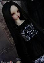 1/3 boneca bjd peruca preta cabelos lisos longos fabricante sd dd para presente bjd cabelo frete grátis(China (Mainland))