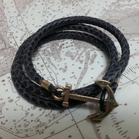 HOT Free shipping  voyage bracelets for lovers Stone lovers bracelet anchor hand-rope handmade personalized anchor