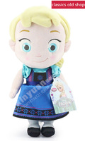1PC Elsa,Christmas gift,Pre-sale 2014 New Frozen childhood Plush Elsa Anna baby plush Soft Toys Baby Toy Girls style can choose