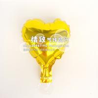* golden *6 inch aluminum film balloon heart love type solid aluminum foil balloons wedding venue