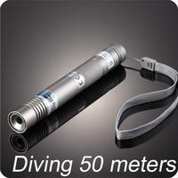 Waterproof 150mw 520nm diode green handheld laser diving 50 meters with black case