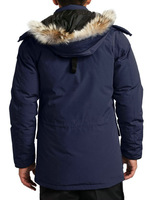 free shipping Man Banff goose down jackets big fur authentic quality  coldproof