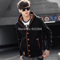 2014 New  for Men Leisure hoodies, preppy casual hoodies, fashion coat, winter autumn hoodies, warm hoodies, 2 pcs free shipping