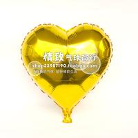 * golden *10 inch aluminum film balloon heart love type solid aluminum foil balloons wedding venue
