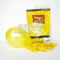 5 inch NEO Korea pearl round balloon yellow (Yellow) wedding balloons wholesale 100