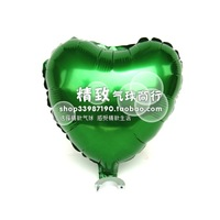 * green *10 inch aluminum film balloon heart love type solid aluminum foil balloons wedding venue
