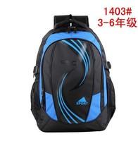 Free shipping 2014 double-shoulder school bag back child school bag 3 - 6 relief school bag Students school bag